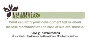Encontro Scientia Sólveig Thorsteinsdóttir 19 Novembro 2015