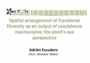 cE3c Conference | Adrián Escudero | January 24th, 2017