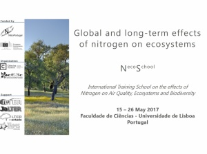 Global and long-term effects of nitrogen on ecosystems | Training school in Lisbon, Portugal | 15-26 May 2017