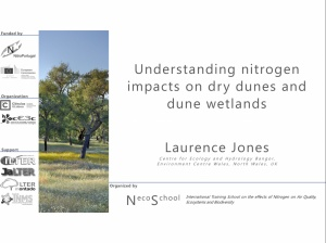 "Conference ""Understanding nitrogen impacts on dry dunes and dune wetlands"" 