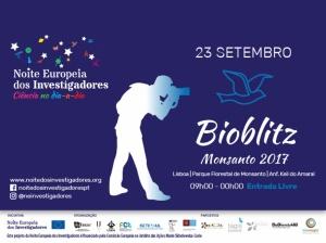 BioBlitz Monsanto regressa este sábado, 23 de setembro, e o cE3c é um dos parceiros