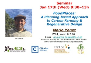 "Seminário ""FoodPlaces: A Planning-based Approach to Carbon Farming"": 17 janeiro, 9h30-13h00, FCUL"