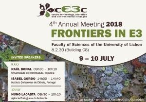 Encontro Anual cE3c 2018: Conferências Plenárias abertas ao público a 9 e 10 de julho!