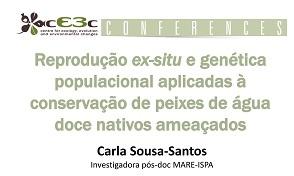 Conferência cE3c Carla Sousa-Santos 22 Outubro 2015
