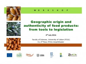cE3c Workshop | Geographic Origin and Authenticity of Food Products:  Tools to Legislation | 4th July 2016