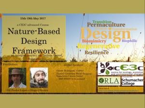 """Curso avançado cE3c """"Nature-Based Design Frameworks"""""""