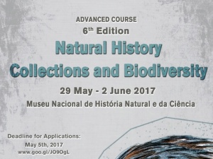 "Curso avançado cE3c ""Natural History Collections and Biodiversity"" - candidaturas até 5 de maio 2017"