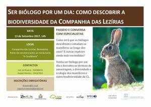 Ser biólogo por um dia: como descobrir a biodiversidade da Companhia das Lezírias | 13 setembro 2017, 14h00