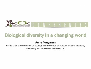 cE3c Conference | Anne Magurran | September 13, 2018