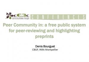 cE3c Conference   Denis Bourguet   January 7, 2019