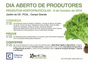 Dia Aberto de Produtores: 8 outubro, Jardim do C6, FCUL