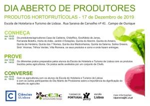 Dia Aberto de Produtores - 17 dezembro, Escola de Hotelaria e Turismo de Lisboa