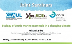 "Seminar entitled ""Ecology of Arctic marine mammals in a changing climate""."