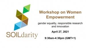 Workshop 'Women Empowerment' | April 27, 2021, 9h30-16h30 (GMT+1), online