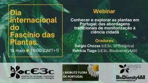 """Webinar """"Conhecer e explorar as plantas em Portugal: das abordagens tradicionais de monitorização à ciência cidadã"""""""