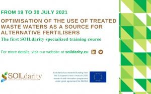 Usar águas residuais tratadas como fertilizantes: primeiro curso do projeto SOILdarity, em julho 2021